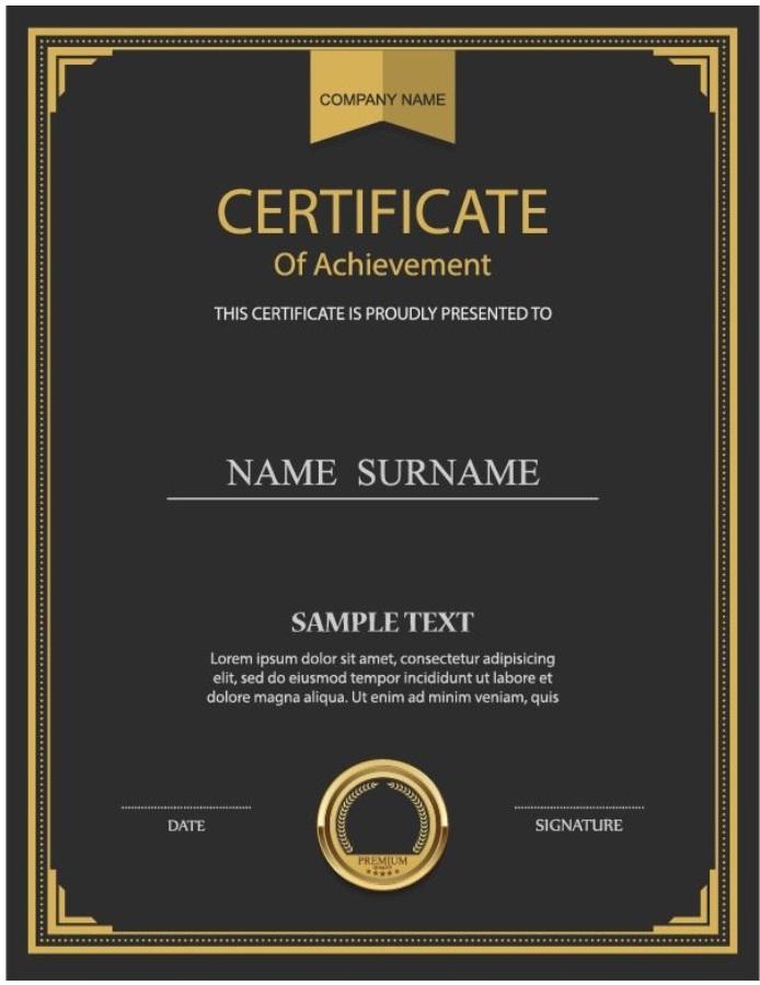 Plantilla certificado de autenticidad